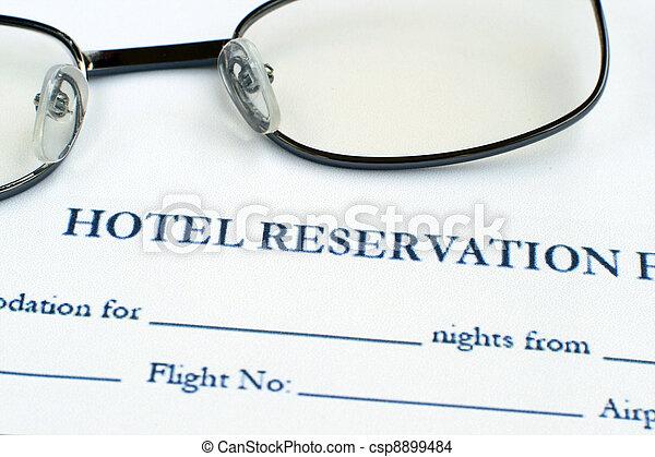 予約, ホテル, 形態 - csp8899484