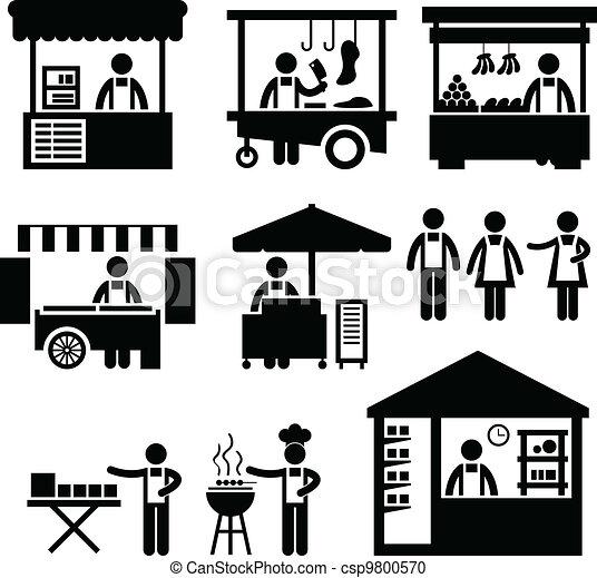 事務, 貨攤, 商店, 市場, 布斯 - csp9800570
