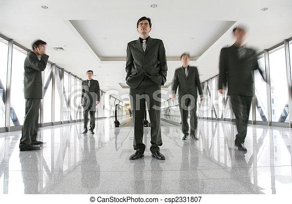 事務, 走廊, 人們 - csp2331807