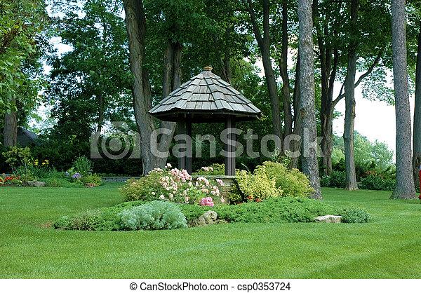 井戸, 庭 - csp0353724
