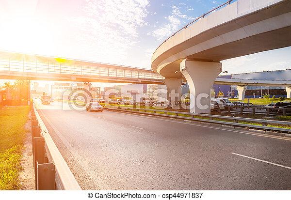 交換, ハイウェー, 橋 - csp44971837