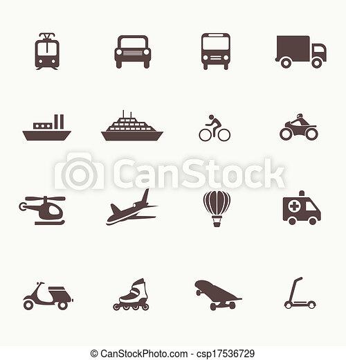 交通機関, 要素, デザイン, アイコン - csp17536729