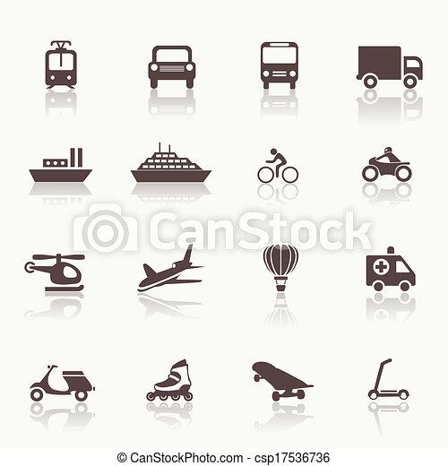 交通機関, 要素, デザイン, アイコン - csp17536736