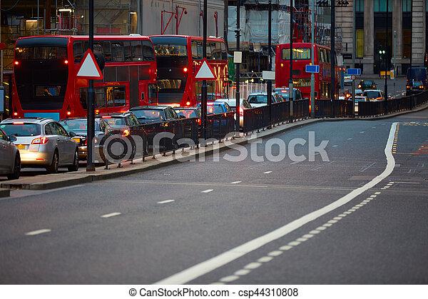 交通, 財政, 日没, 地区, ロンドン - csp44310808