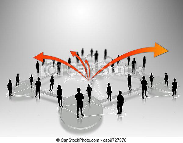人々ビジネス, チーム - csp9727376