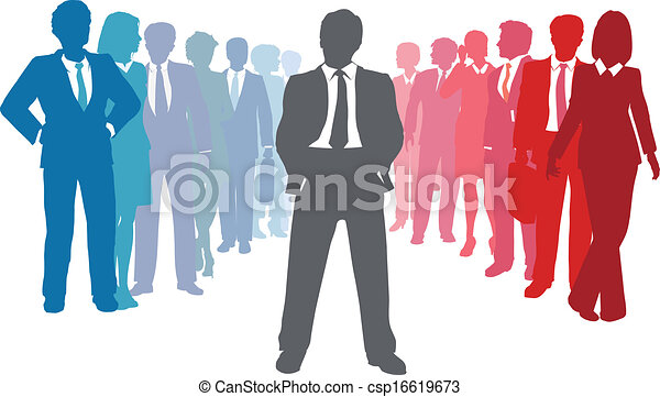 人々ビジネス, リーダー, チーム, 会社 - csp16619673