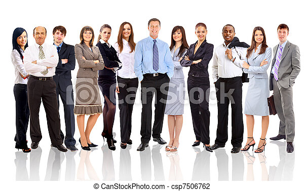 人々ビジネス, 若い, -, チーム, 魅力的, エリート - csp7506762