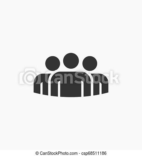 人々, グループ, アイコン - csp68511186