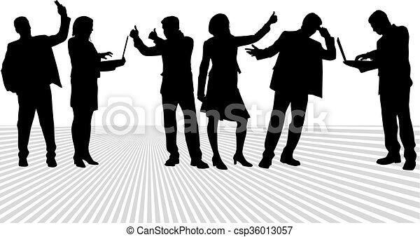 人々。, グループ, ビジネス - csp36013057