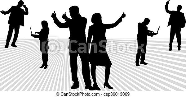 人々。, グループ, ビジネス - csp36013069