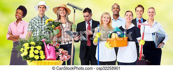 人々。, グループ, ビジネス - csp32258901