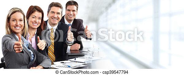 人々。, グループ, ビジネス, 幸せ - csp39547794