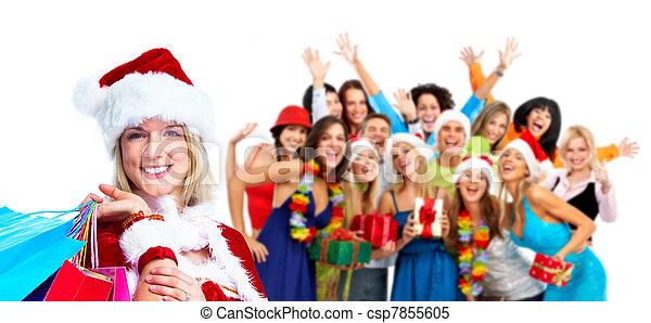 人々。, グループ, 幸せ - csp7855605