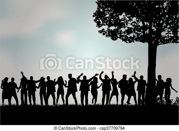人々。, グループ - csp37709794
