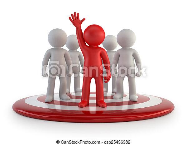 人々, -, チーム, 小さい, リーダー, 3d - csp25436382