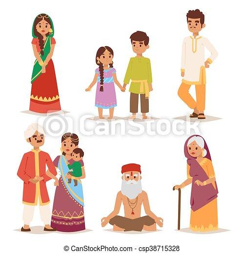 人々。, ベクトル, indian, イラスト - csp38715328