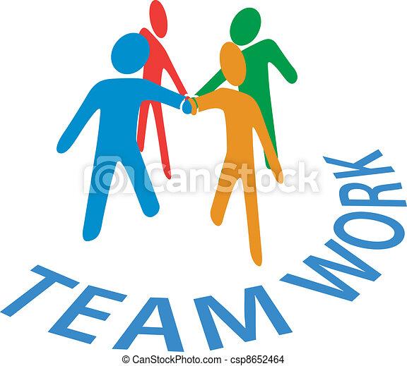 人々, 共同, 参加しなさい, チームワーク, 手 - csp8652464