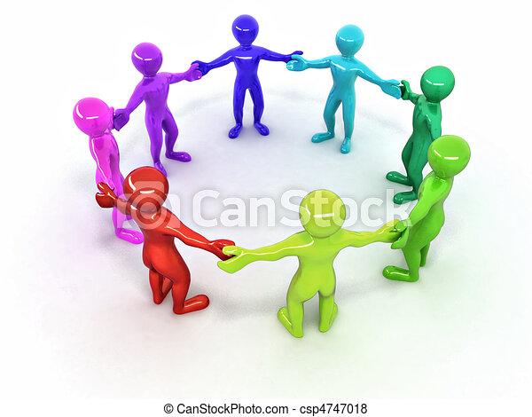 人々。, 友情 - csp4747018