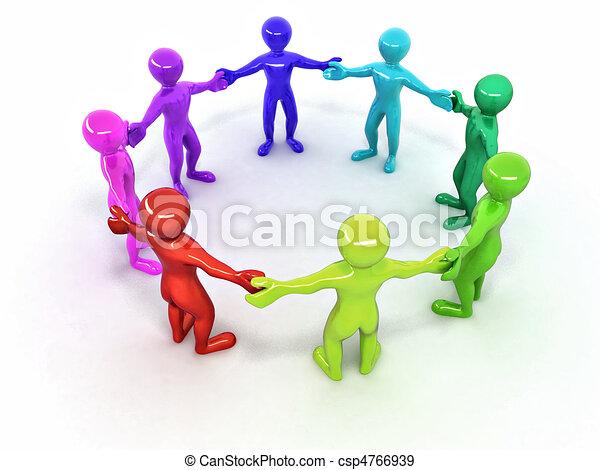 人々。, 友情 - csp4766939