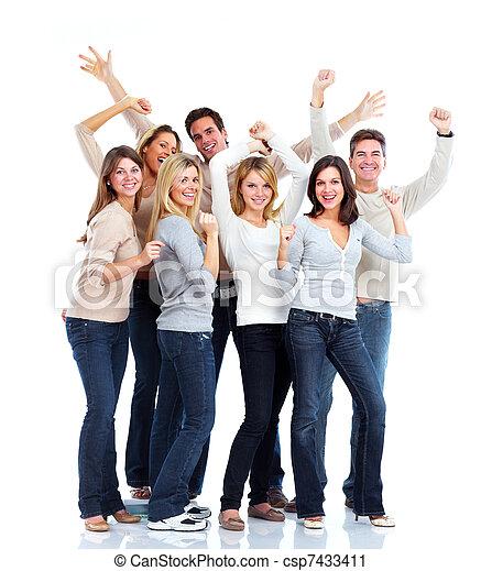 人々。, 幸せ - csp7433411