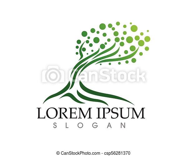 人々, 木, ベクトル, 緑, カード, テンプレート, ロゴ, アイデンティティー - csp56281370