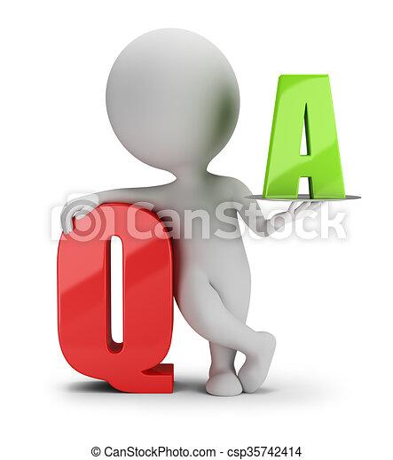 人々, -, 質問, 小さい, 答え, 3d - csp35742414