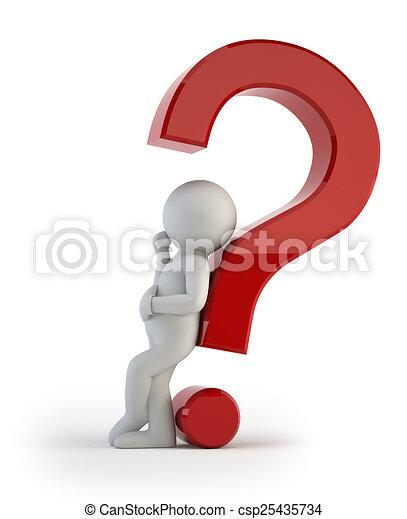 人々, -, 質問, 複雑, 小さい, 3d - csp25435734