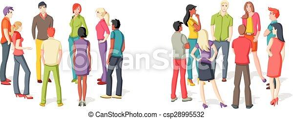 人々, 2, グループ, meeting. - csp28995532