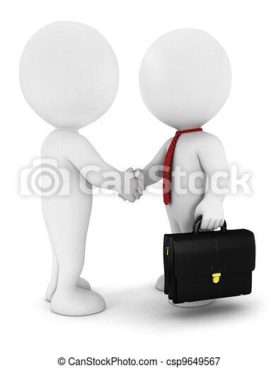 人々, 3d, ビジネスマン, 白 - csp9649567