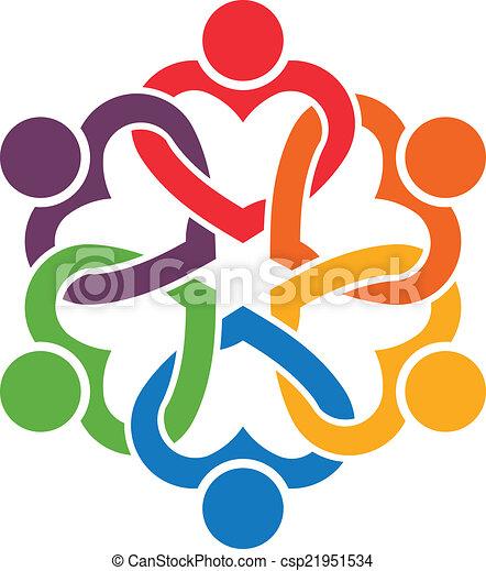 人々, 6., 心, グループ, 織り交ぜられる - csp21951534