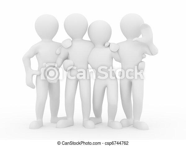 人々。, teamwork., グループ, friendship. - csp6744762