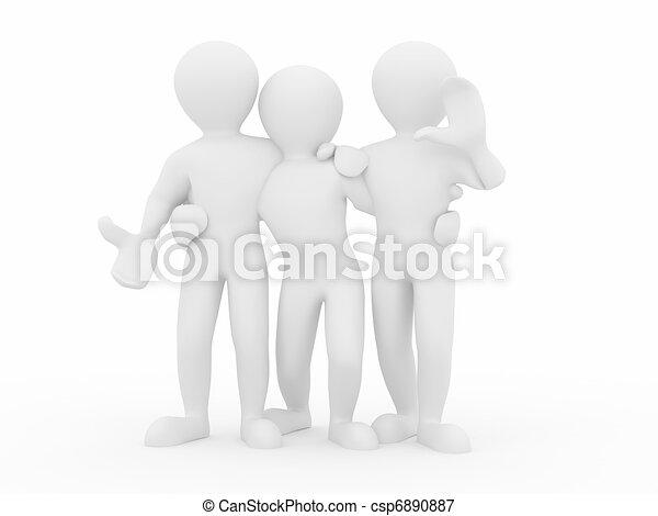 人々。, teamwork., グループ, friendship. - csp6890887