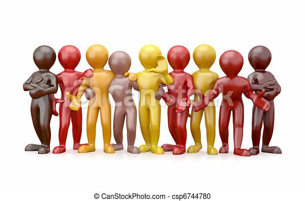 人々。, teamwork., グループ, friendship. - csp6744780