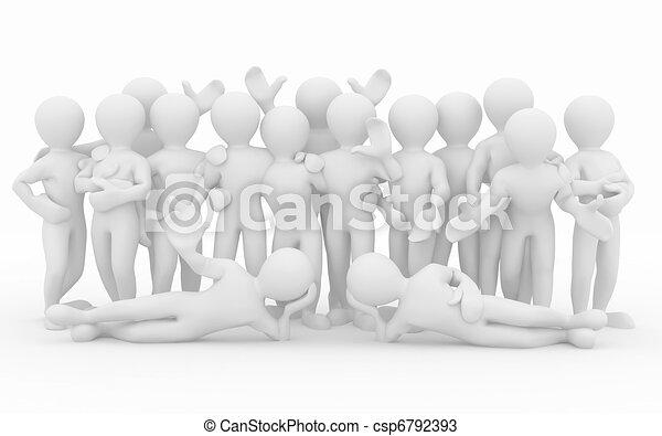 人々。, teamwork., グループ, friendship. - csp6792393