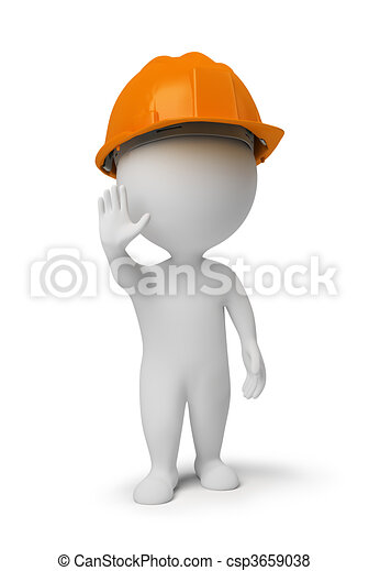 人們, 工人, 姿態, 停止, -, 小, 3d - csp3659038