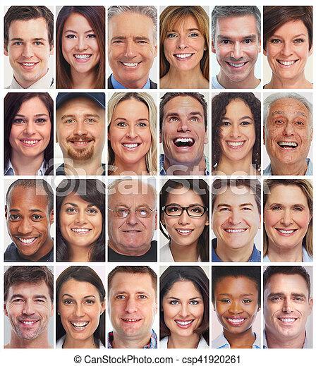 人們, 彙整, 臉 - csp41920261