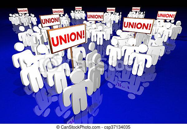 人們, 聯合, 工人, 動畫, 簽署, 會議, 3d - csp37134035