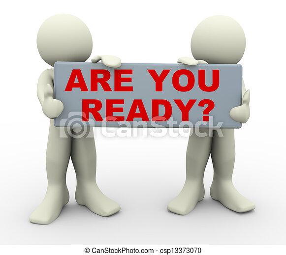 "人們, ready?, ""are, 藏品, 你, 3d - csp13373070"