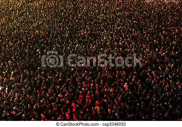 人群, 人們 - csp3346033
