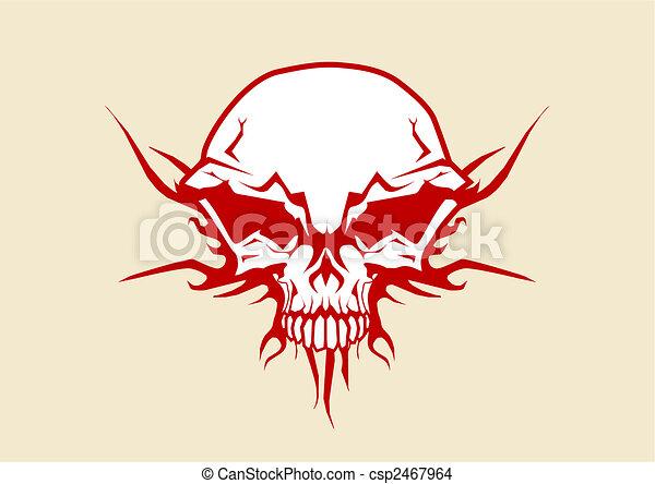 人間の頭骨 - csp2467964