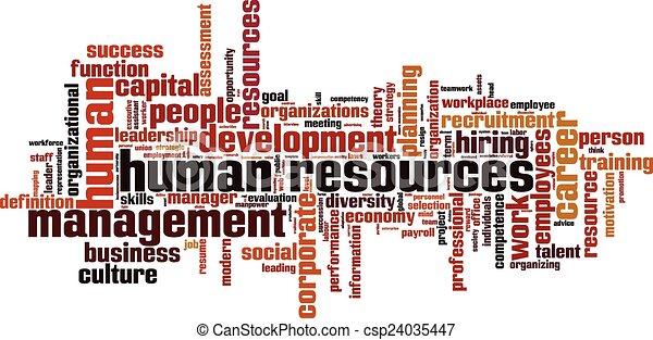 人間, 単語, 資源, 雲 - csp24035447