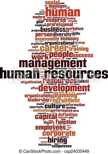 人間, 単語, 資源, 雲 - csp24035449