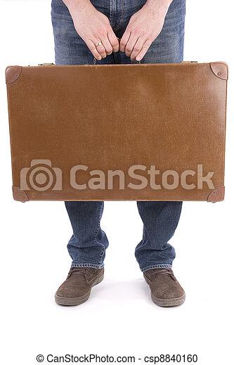 人, 古い, スーツケース - csp8840160