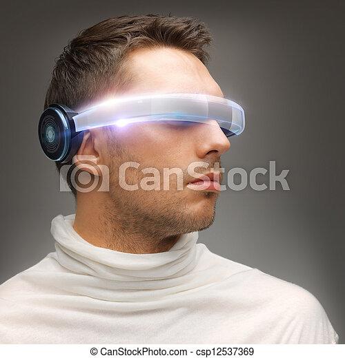 人, 未来派, ガラス - csp12537369