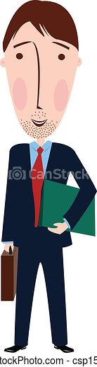 人, 漫画, スーツ - csp15846978