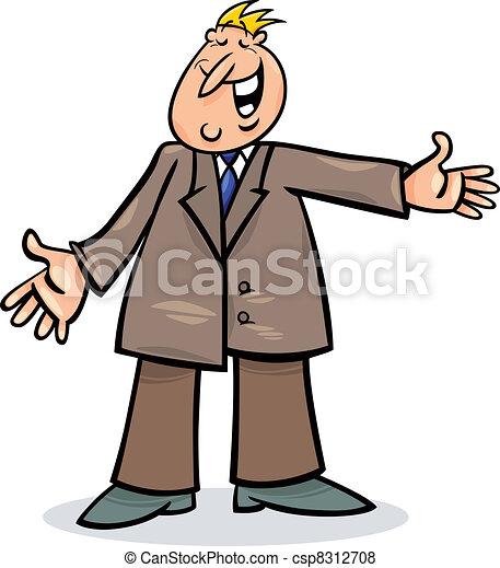 人, 漫画, スーツ - csp8312708