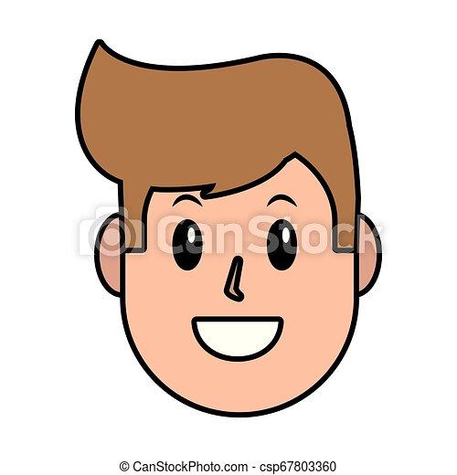 人, 漫画, 顔 - csp67803360