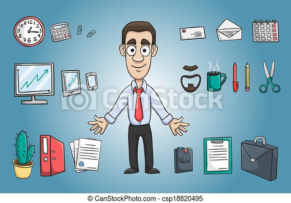 人, 特徴, ビジネス, パック - csp18820495