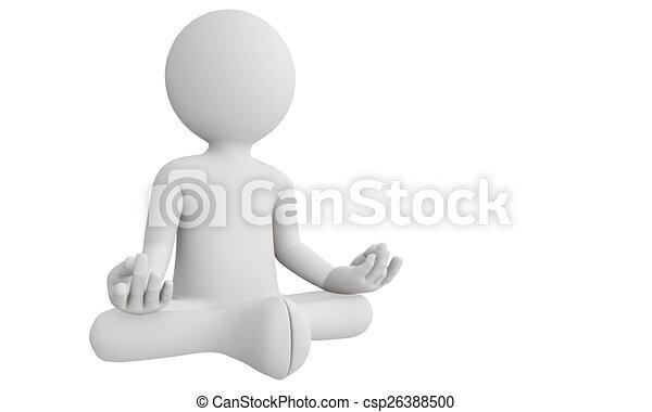 人, 能力を発揮しなさい, ヨガ, 瞑想, 3d - csp26388500