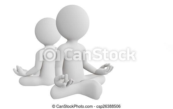 人, 能力を発揮しなさい, ヨガ, 瞑想, 3d - csp26388506